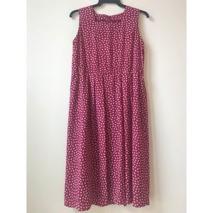 50s 60s red pattern summer dress from Japan